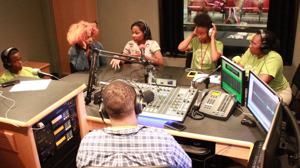 Youth in SLB Radio Studios