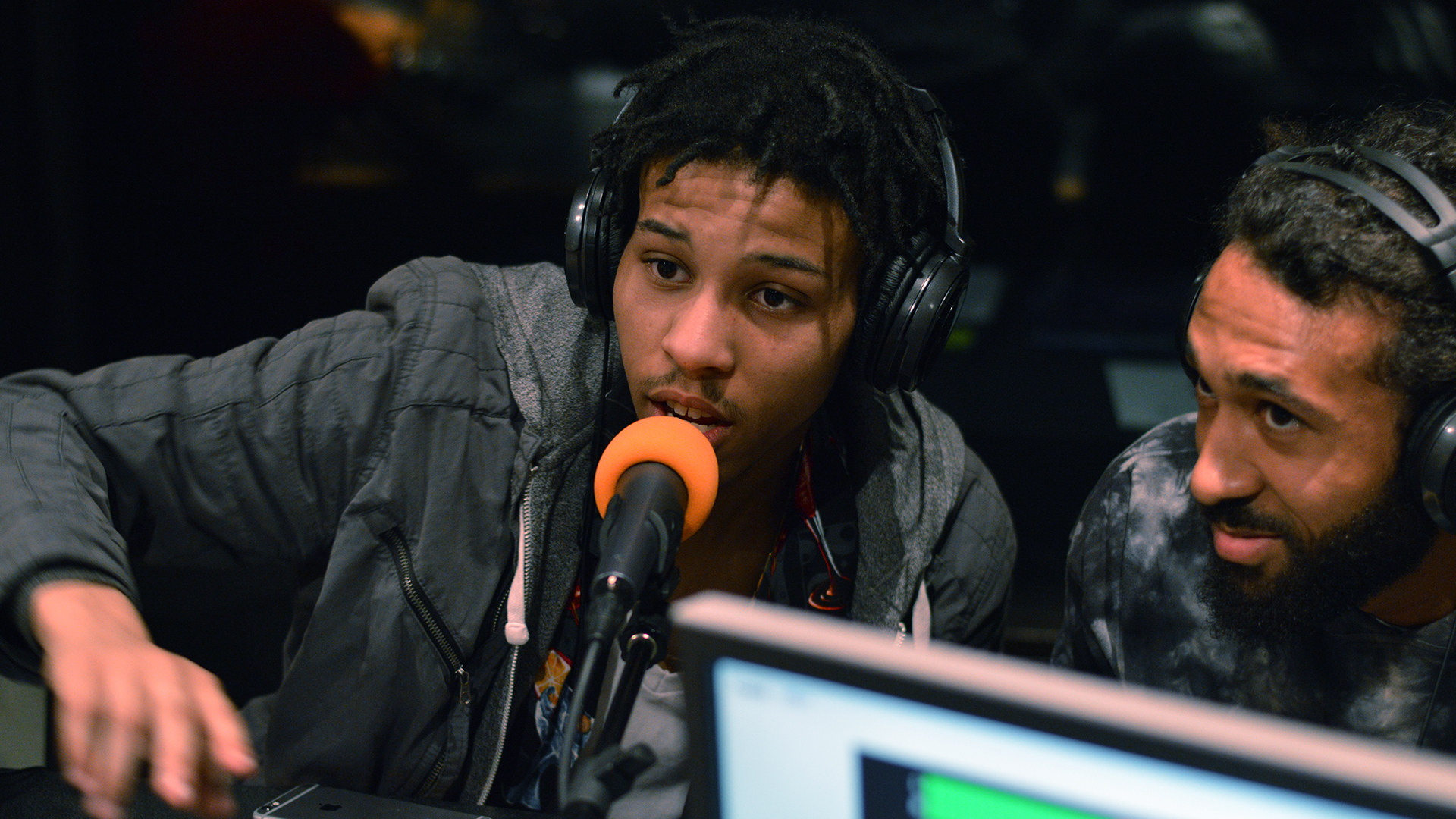 youth on microphone